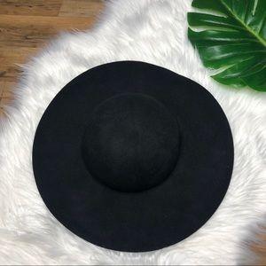 Forever 21 100% Wool Black Floppy Hat